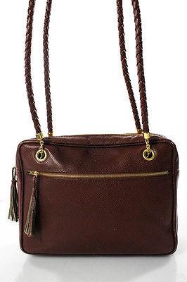 Bottega VenetaBottega Veneta Brown Leather Braided Strap Medium Satchel Handbag
