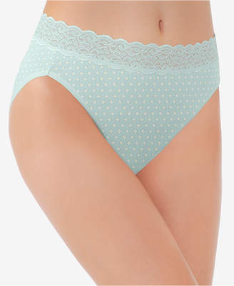 Vanity Fair Flattering Cotton Lace High-Cut Brief 13395