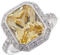 Michela Pave Accented Solitaire Ring