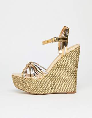 Asos DESIGN High Way Metallic High Wedges