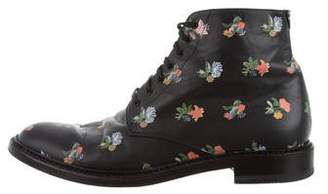 Saint Laurent Prairie Flower Grunge Boots