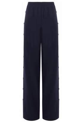 Maison Margiela Button-Detailed Wool-Blend Twill Wide-Leg Pants