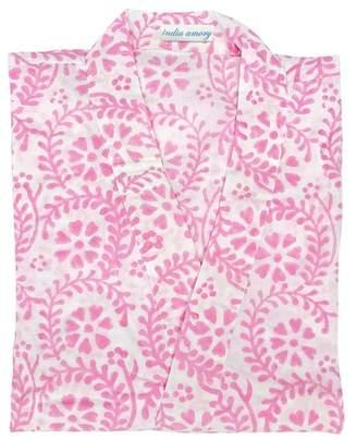 India Amory Pink Fleur Provencale Robe