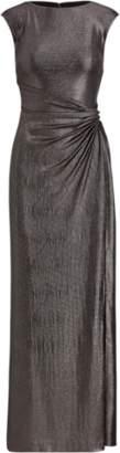 Ralph Lauren Metallic Cap-Sleeve Gown