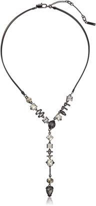 Kenneth Cole New York Stone Cluster Mixed Metallic Faceted Stone Y-Necklace
