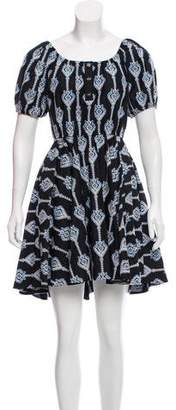 Caroline Constas Off Shoulder Embroidered Dress