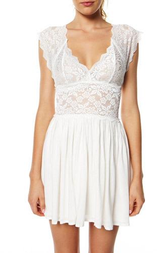 MinkPink Boudoir Lace Dress