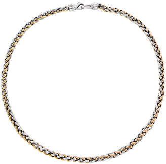 FINE JEWELRY Mens Stainless Steel Rose Ip-Plated Chain Necklace