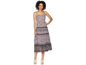 Chaps Floral-Print Cotton Dress Women's Dress