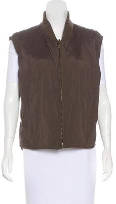 Loro Piana Quilted Rib-Knit Trimmed Vest
