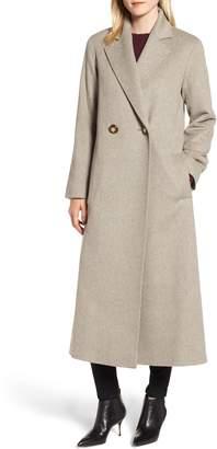 Fleurette Long Double Breasted Loro Piana Wool Coat