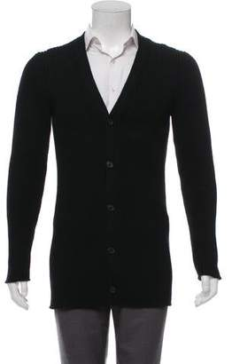 Loewe Rib Knit Wool Cardigan