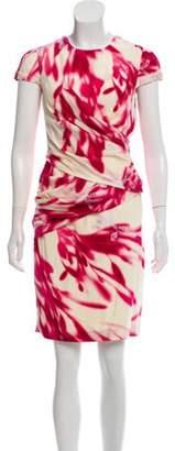 Doo.Ri Silk Print Knee-Length Dress w/ Tags Pink Silk Print Knee-Length Dress w/ Tags