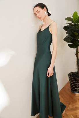 Genuine People Silk Slip on Midi Dress