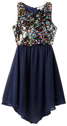Love, Jayne Reversible Sequin Top Dress (Big Girls)