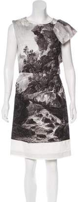 Dries Van Noten Landscape Print Sheath Dress