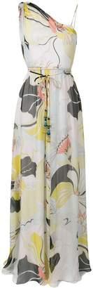 Emilio Pucci Mirabilis Print One-shoulder Silk Dress
