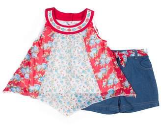 cdcf59d168c5f Little Lass Toddler Girl Pieced Tank Top & Shorts Set