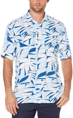 Cubavera Big & Tall Geometric Abstract Print Shirt