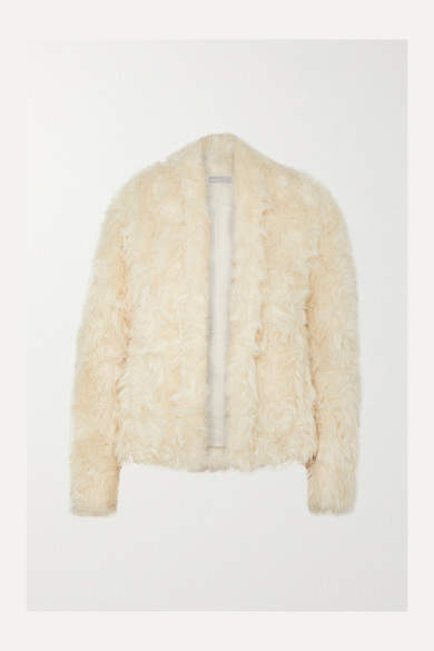 Faux Shearling Jacket - Cream