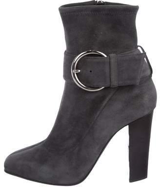 Giuseppe Zanotti Suede Square-Toe Boots