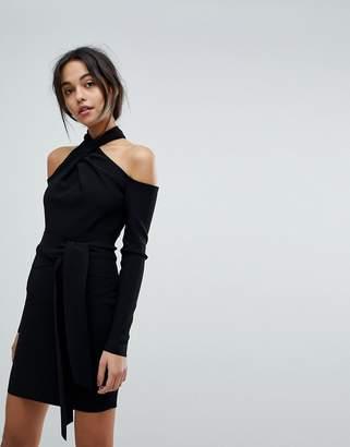 Bec & Bridge Halter Cold Shoulder Mini Dress