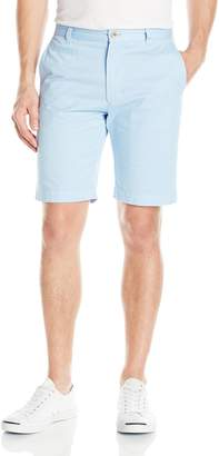 Louis Raphael Men's Slim Fit Flat Front Garment Dye Short