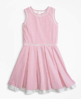 Brooks Brothers Cotton Seersucker Dress