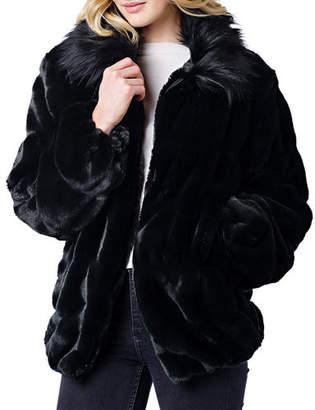 Couture Fabulous Furs Faux Fur Coat w/ Collar