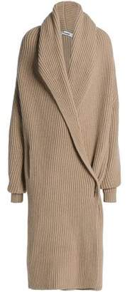 Jil Sander Ribbed Wool And Cashmere-Blend Cardigan