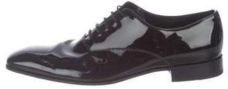 Prada Patent-Leather Square-Toe Oxfords