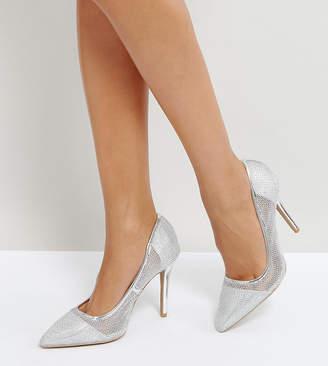 Qupid Mesh Point High Heels