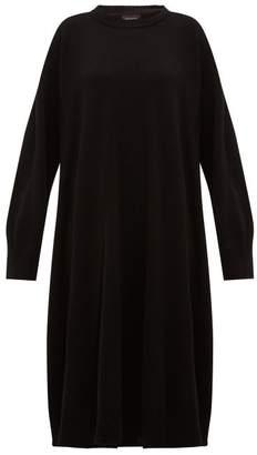 eskandar A Line Cashmere Midi Dress - Womens - Black