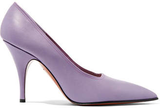 Victoria Beckham Dorothy Matte-leather Pumps - Lilac