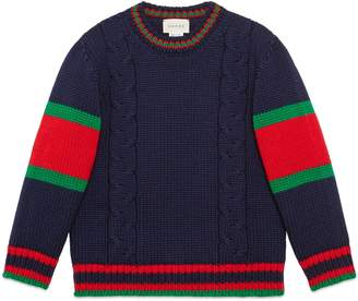 fa8b3bd2a2f Gucci Children s cable knit wool sweater