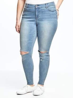 28a437b91c3 at Old Navy · Old Navy High-Rise Secret-Slim Pockets Plus-Size Distressed Rockstar  Jeans