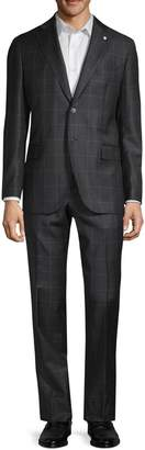 Lubiam Classic-Fit Windowpane Wool Suit