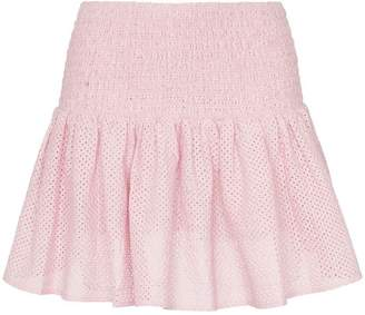 Marysia Swim Lahaina smocked waist cotton mini skirt