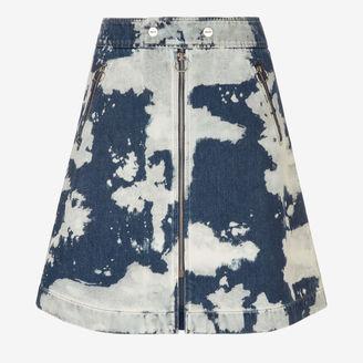 Printed Denim Skirt $625 thestylecure.com