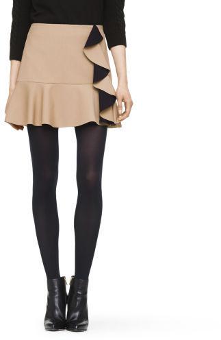 Club Monaco Paola Crepe Ruffle Skirt