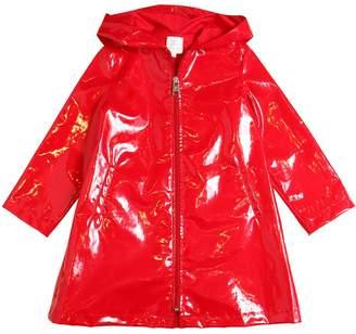 Shiny Coated Cotton Rain Coat