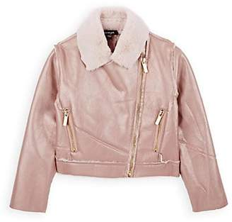 425d782b887a Faux Leather Jacket For Baby Girls - ShopStyle