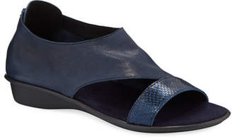 Sesto Meucci Elen Comfort Leather Sneaker Sandals, Navy