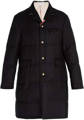 Thom Browne Chesterfield down-filled wool coat