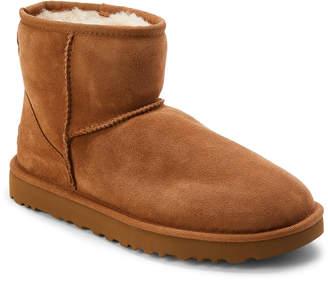UGG Chestnut Real Fur Classic Mini Boots