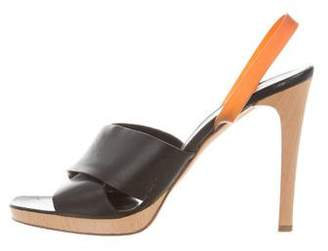 Helmut Lang Platform Leather Sandals