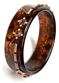 Lee Angel Skinny Tortoise Jeweled Bracelet