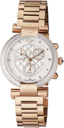 Gv2 1552 Berletta Chrono Rose Gold-Tone Diamond Watch