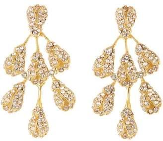 Oscar de la Renta Vine Drop Crystal Earrings