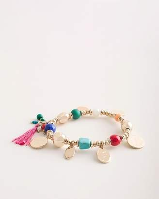 Chico's Chicos Multi-Colored Seed Bead Stretch Bracelet